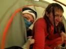 поставили палатку перед штурмом ветреного перевала