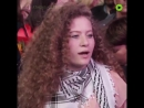 Ahed Tamimi in Greece, defending Palestine and Jerusalem.