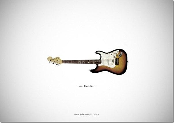 Подборка фотографий гитар известных людей.