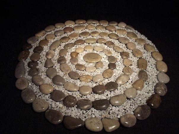Коврики из морских камней #DIY_Идеи