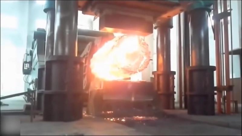Работа для Настоящего Мужчины Большой Кузнечный Молот Горячая Ковка Металла Горячая объемная штамповка ГОШ