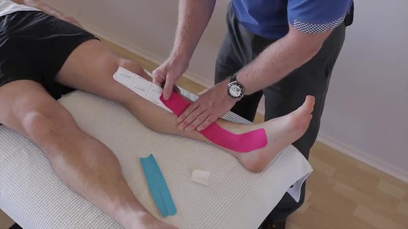 How to treat Shin Splints (Medial tibial stress Syndrome _ Periostitis) with Kinesiology tape