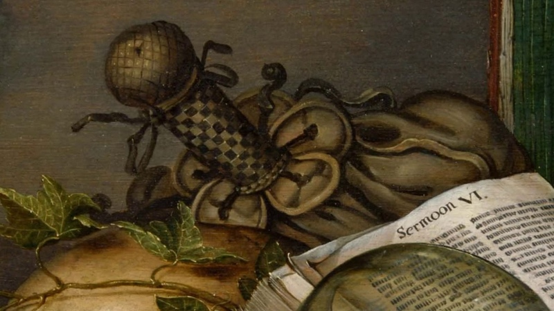 Evert Collier. Vanitas, Still Life with Books and Manuscripts and a Skull. 1663