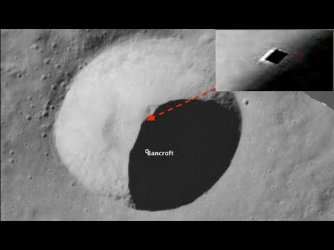 Aliens on the Moon Entrance to an Alien underground base found in the Bancroft Crater