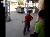 Сирия & Триполи, дети играют в CS без компьютеров FSA Terrorists in Tripoli and Syria Reduced to Child Soldiers