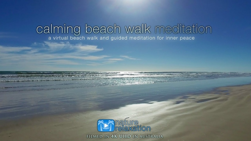 4K UHD Guided Meditation Virtual Beach Walk Australia for Stress Relief, Inner Peace Happiness