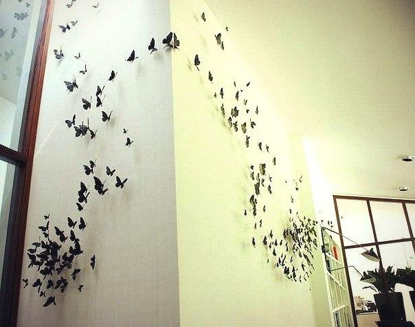 бабочки для интерьера своими руками шаблоны