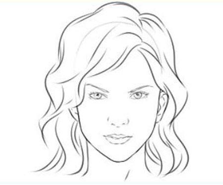 Лица девушек карандашом