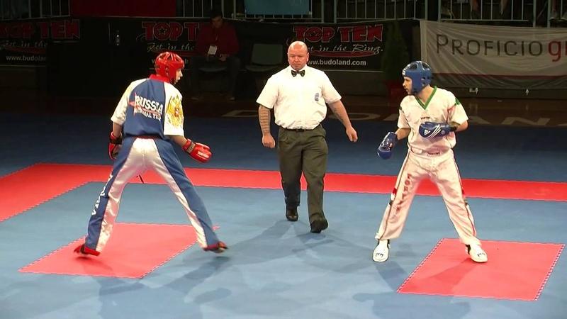 Viacheslav Shcherbakov RUS v RIchard Veres HUN WAKO European Championships 2014