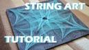 STRING ART TUTORIAL timelapse СТРИНГ АРТ обучение с русскими субтитрами