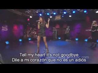 Ashley Tisdale - Tell Me Lies (Live AOL Sessions)+Lirycs (Ingles+Español)+HD