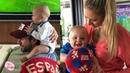 Анна Курникова и Энрике Иглесиас показали своих 5-месячных малышей.