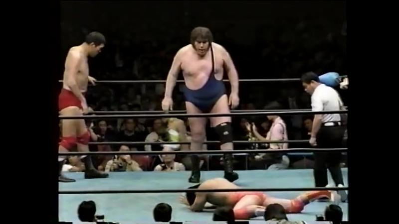 1992.03.04 - Giant Baba/Andre The Giant/Dory Funk Jr. vs. Kenta Kobashi/Toshiaki Kawada/Tsuyoshi Kikuchi