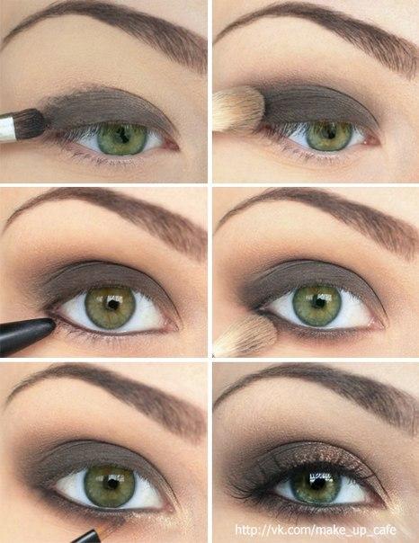 Вечерний макияж глаз поэтапное нанесение