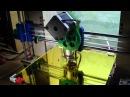 Reprap Prusa i3 тестовый запуск нового принтера