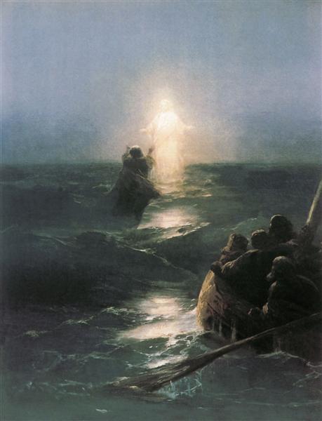 Картина «Хождение по водам», 1890-е.