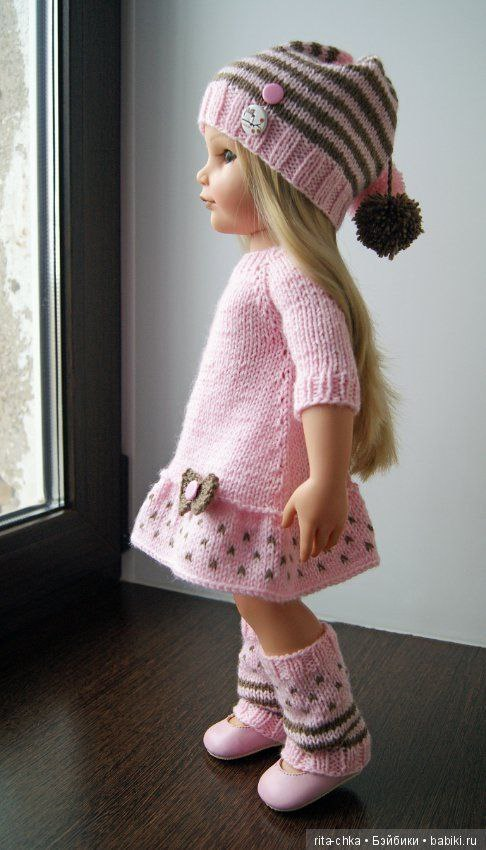 Наряжаем наших кукол!Вязаные изделия для малышей