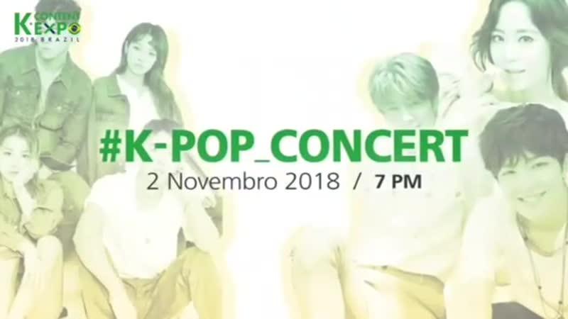 Тизер к предстоящему концерту к-поп в Бразилии (K Content Expo 2018 Brazil)