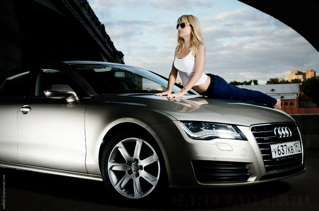 Sexy girl on Audi A7