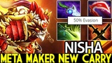 Nisha Bounty Hunter Meta Maker New Carry 7.20 Dota 2