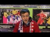 Губерниев комментирует матч сборной России по футболу