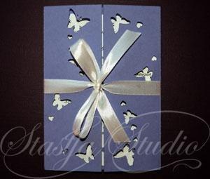 Приглашение на свадьбу Butterflies №1