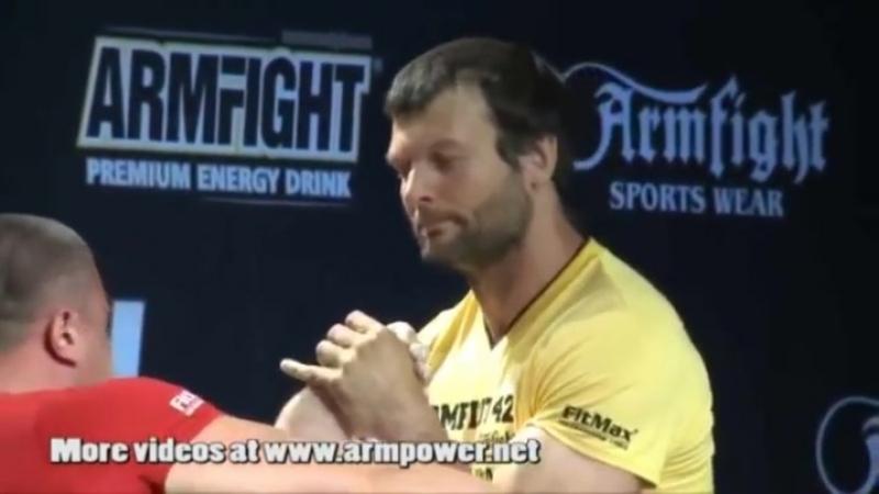 Larratt humiliates Pushkar for the world arm wrestling title