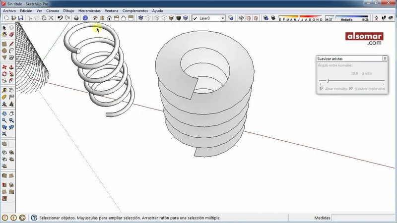 SketchUp Quick Tips! Cylindrical Helices (Hélices cilíndricas)
