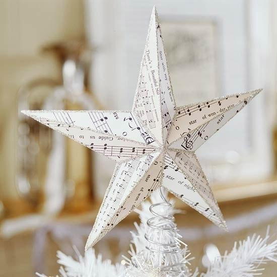 Новогодняя звезда из бумаги.