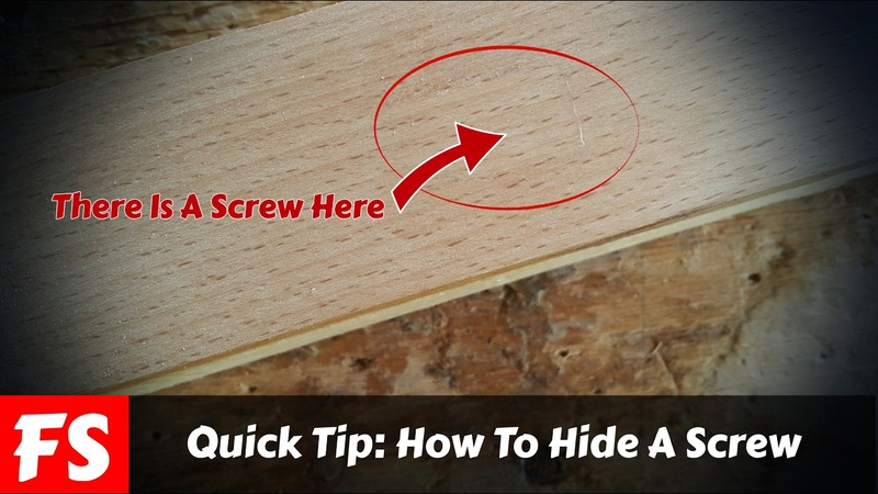 Quick Woodworking Tip How To Hide A Screw (FS Woodworking)