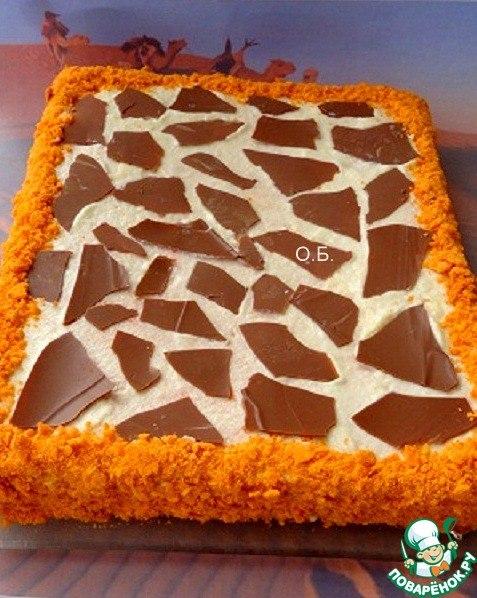 Торт из яиц и песка