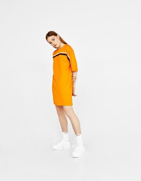 Толстовка-платье с полосками