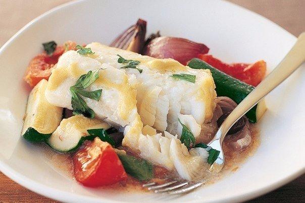 филе рыбы с овощами рецепт с фото
