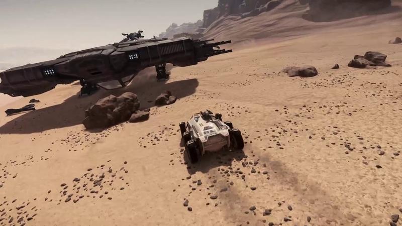 Star Citizen 3.3 PTU - Ursa Rover disarming Hammerhead