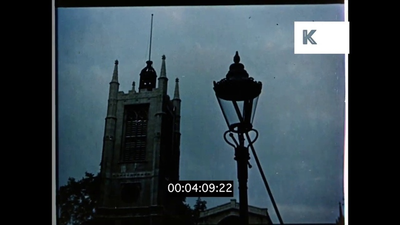 Lamplighter in 1950s London, Leeries, HD from 35mm
