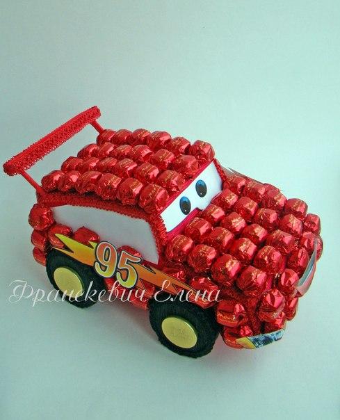Машина тачки из конфет своими руками