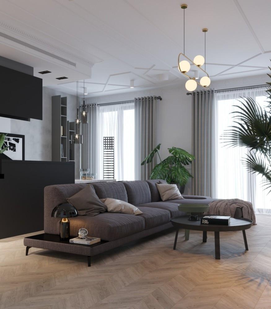 a4ed6ff7f3c68 Дизайнеры Сергей и Илья всегда используют окружение и настроение места в  проектах, поэтому стиль здесь однозначно петербургско-современный.