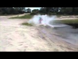 Red Quad Through Sand and Water Fail   Video