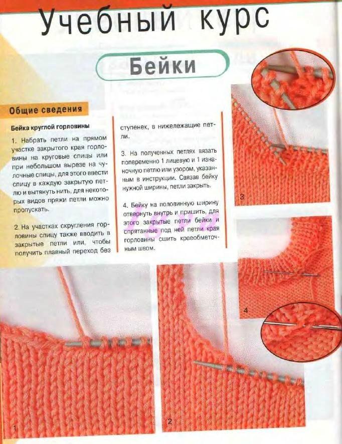 Видеоурок вязания спицами вязание горловины