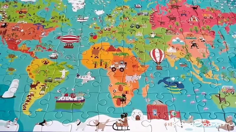 Географический пазл Карта мира
