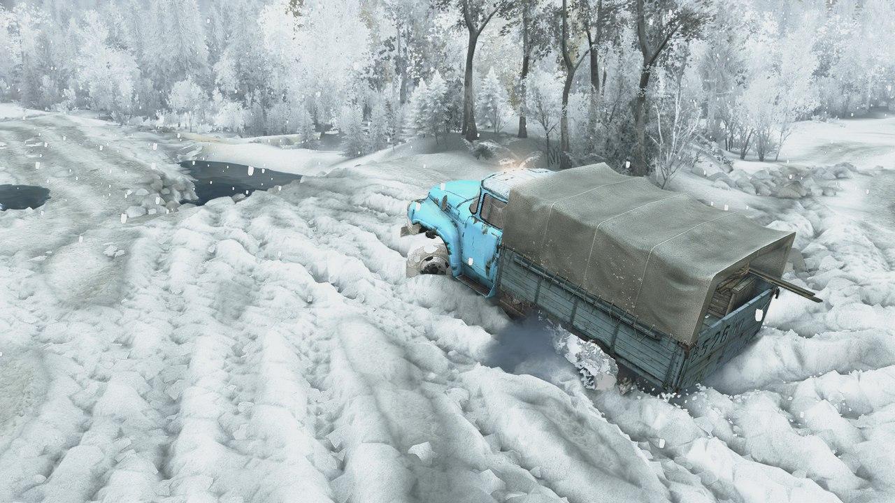 Зимний сезон + Падающий снег (Для последней версии игры) для Spintires - Скриншот 2