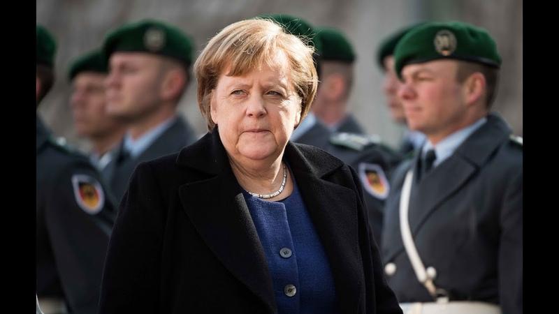 WELT THEMA Bundeswehr Merkel besucht Nato Eingreiftruppe in Munster
