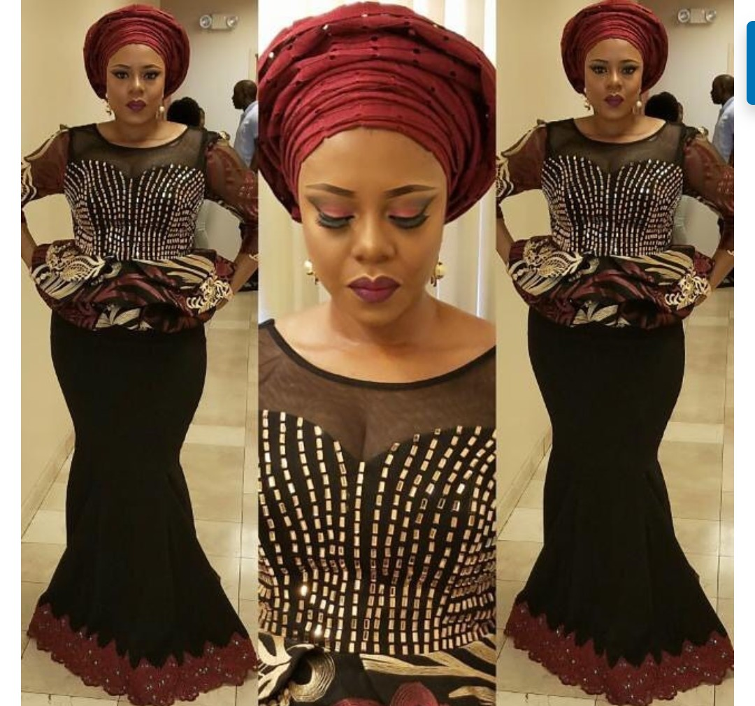 FANTASTIC AFRICAN LACE ASO EBI & AFRICAN PRINT STYLISH DRESSES! 1