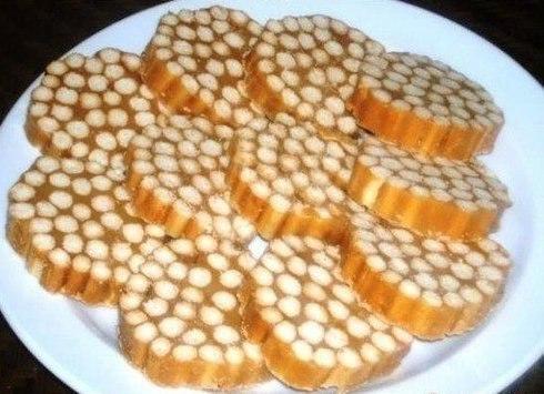 Сладкая колбаска из печенья - 5 рецептов с фото