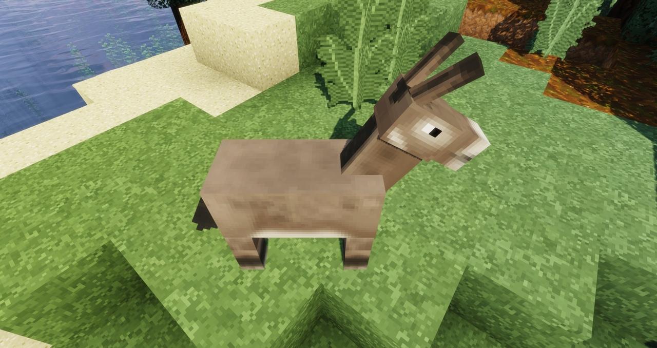 Осёл в Minecraft