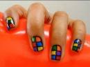 Decoración de uñas fácil (cubo de rubik)