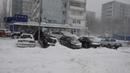 Снежная буря в Ростове 29 01 2014 Snow storm in Russia Rostov on Don