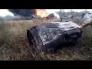 Видео с места падения истребителя МиГ-29 в Подмосковье