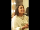 RaniMukerji told us some terrific stories including one about asking @aamir khan for an au