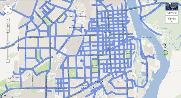 Карта покрытия панорамами от Google